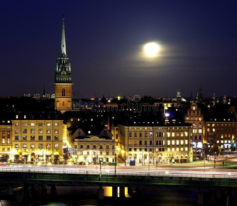 Vista sobre a cidade velha imagens de stock royalty free