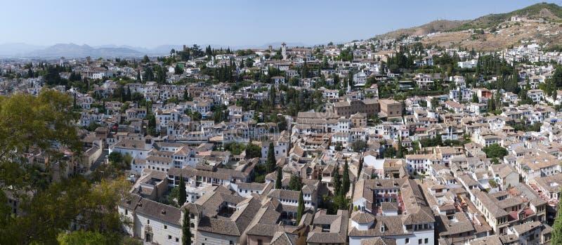 Vista sobre Granada fotografia de stock