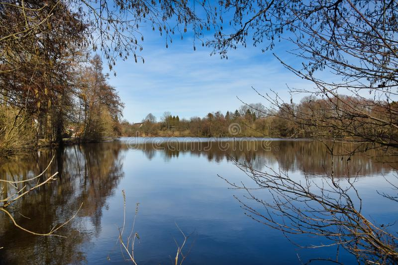 Vista sobre a lagoa de Zlatuska imagem de stock royalty free
