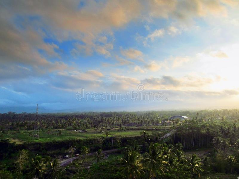 Vista sobre a Natureza da Terra Alta em Temanggung Central Java Indonesia foto de stock