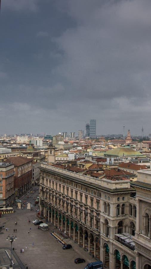 Vista sobre o distrito do brera de Milão fotografia de stock