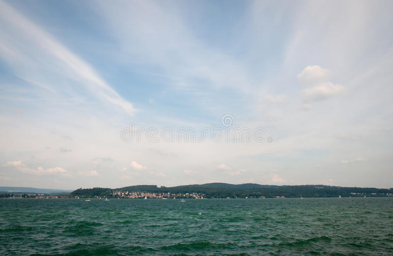 Vista sobre o lago de Constance imagem de stock royalty free