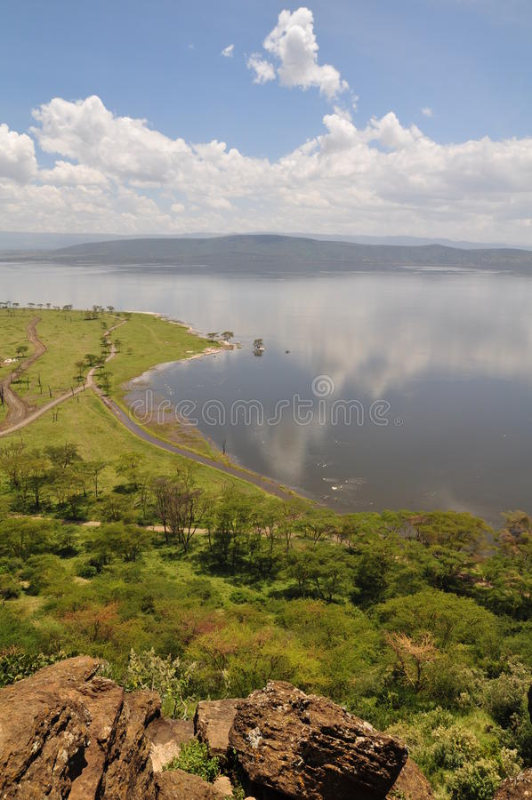Vista sobre o lago Nakuru fotografia de stock royalty free