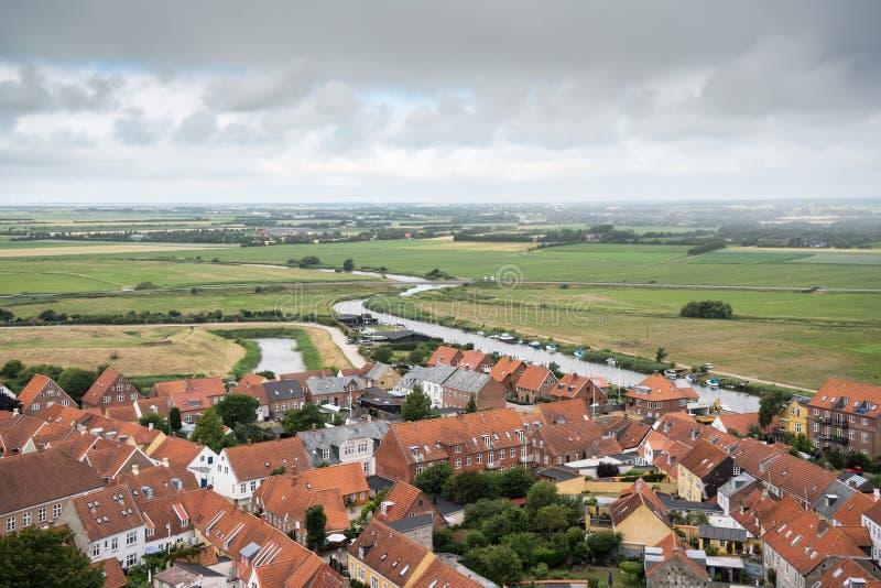Vista sobre o ribe da torre da catedral imagem de stock royalty free