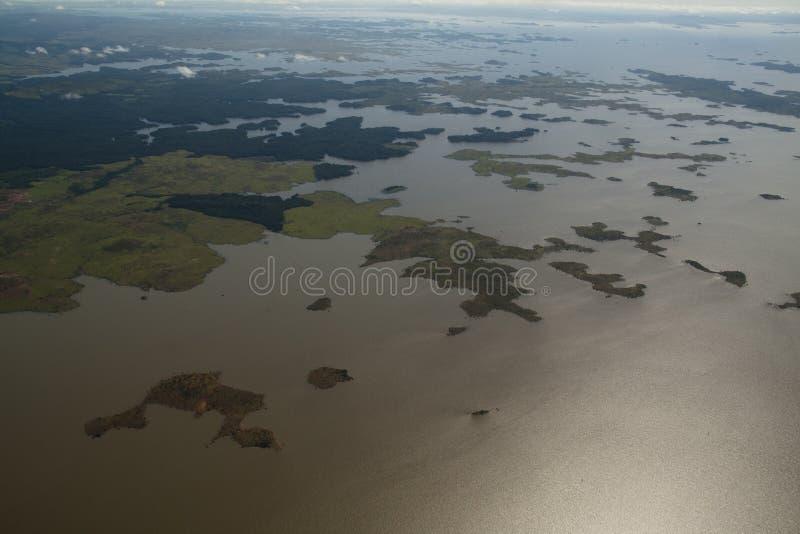 Vista sobre o rio de Orinocco imagens de stock