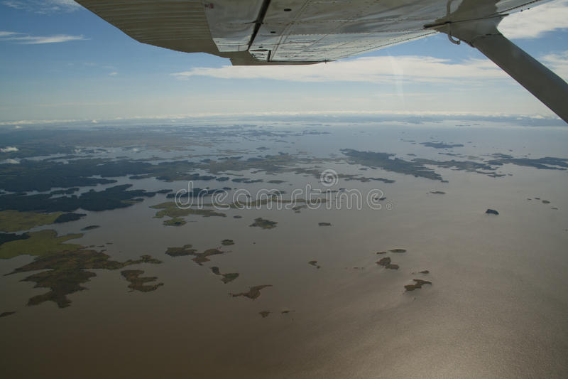 Vista sobre o rio de Orinocco imagens de stock royalty free