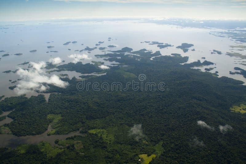Vista sobre o rio de Orinocco fotografia de stock