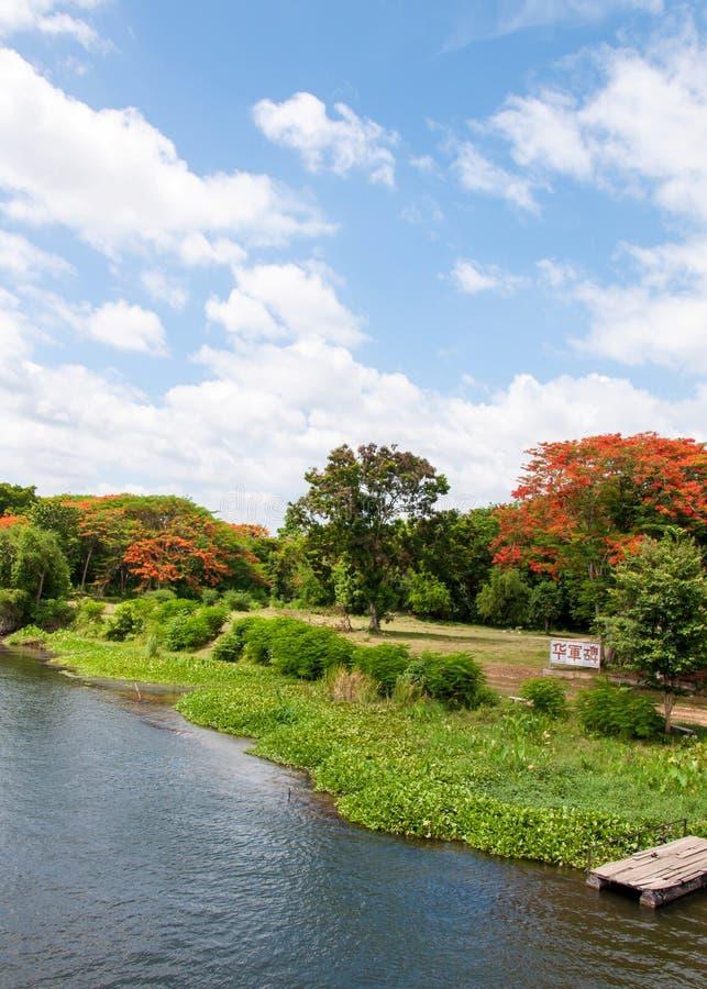 Vista sobre o rio Kwai fotos de stock
