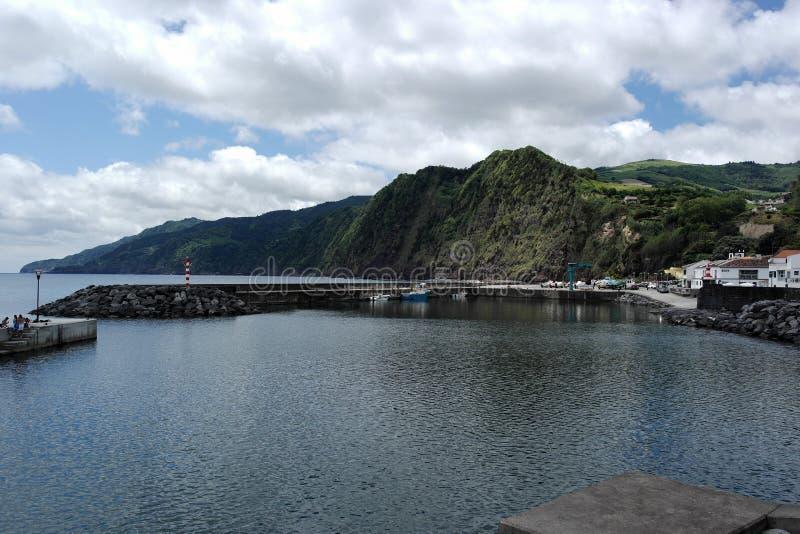 Vista sobre o theHarbor, Ponta Delgada, Portugal fotos de stock royalty free
