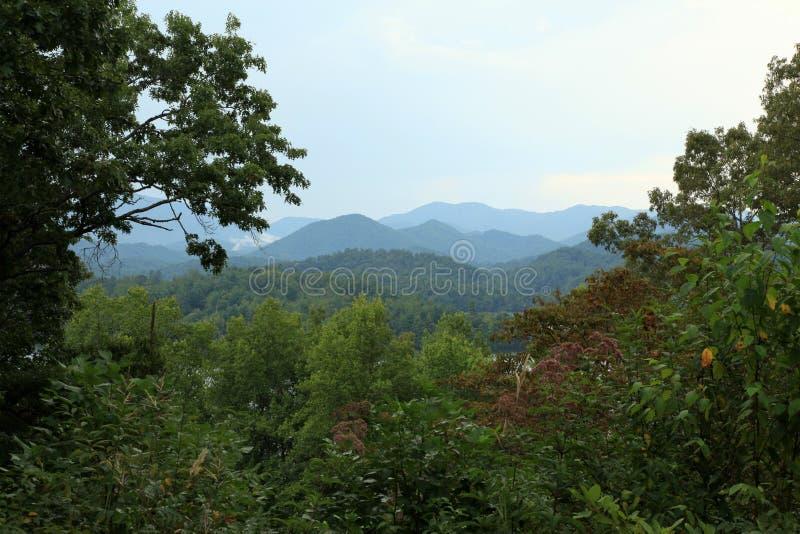 Vista sobre Ridge Mountains azul foto de stock royalty free
