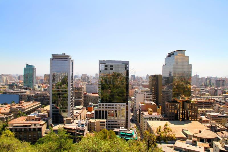 Vista sobre Santiago do Chile fotografia de stock