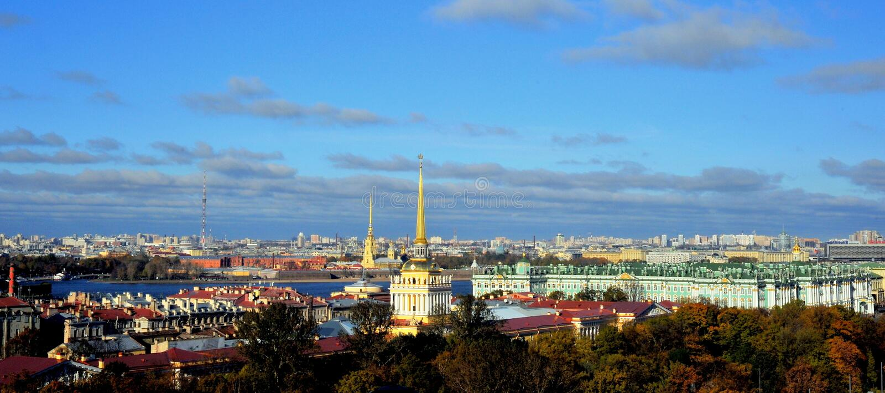 Vista sobre St Petersburg, Rússia fotos de stock royalty free