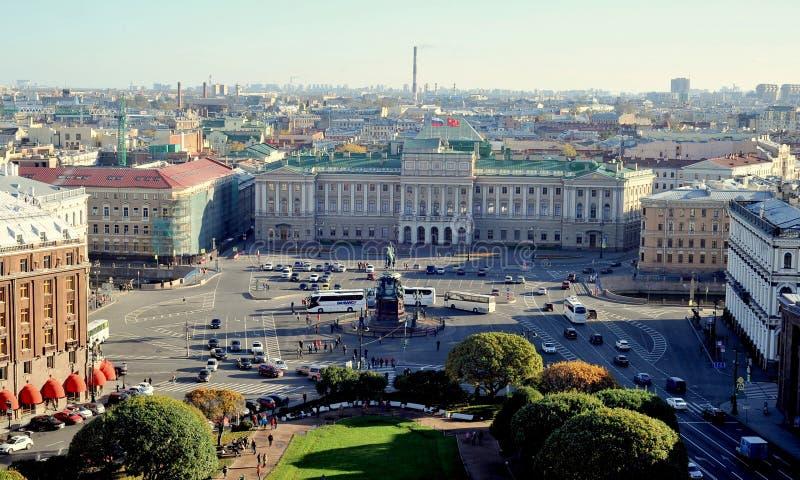 Vista sobre St Petersburg, Rússia imagens de stock royalty free