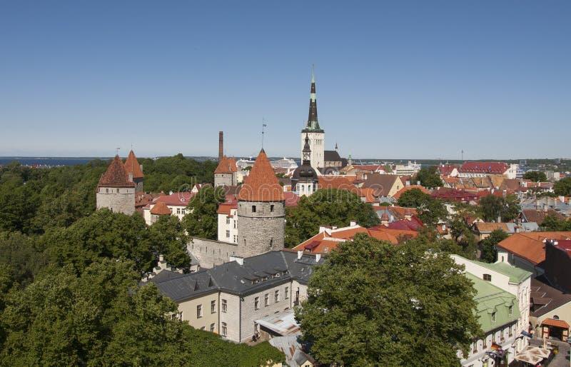 Vista sobre Tallinn imagem de stock royalty free