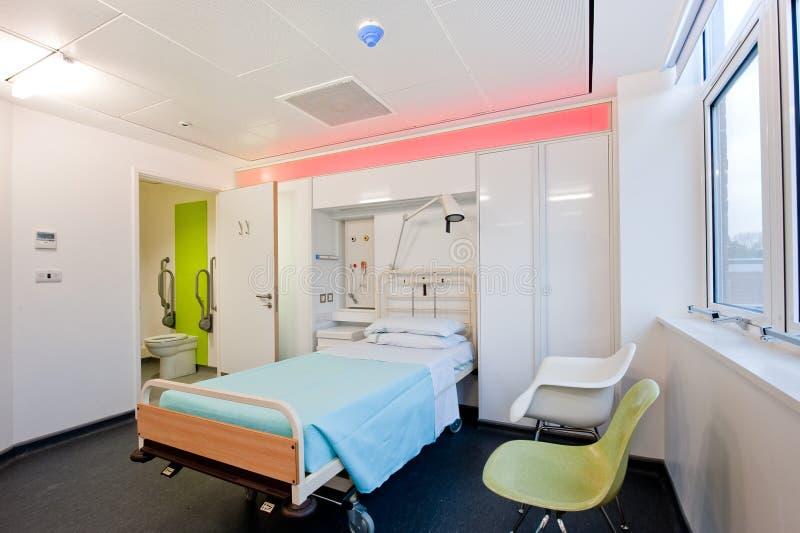 Vista sobre um quarto de hospital moderno imagem de stock