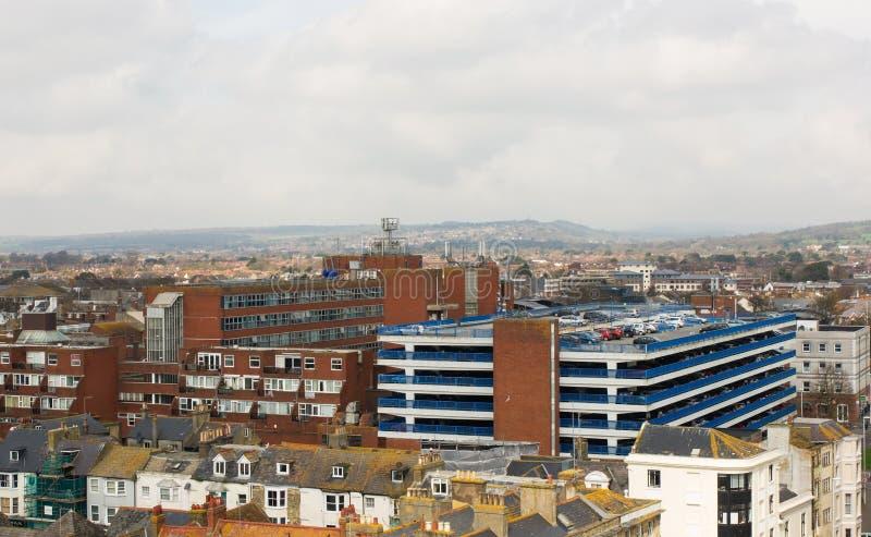 Vista sobre Worthing, Sussex ocidental, Inglaterra foto de stock