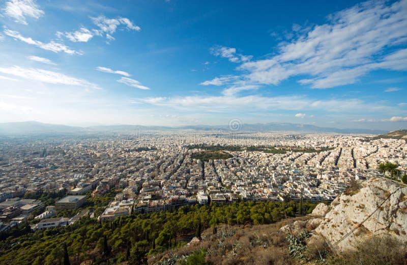 Vista sopra Atene fotografia stock libera da diritti