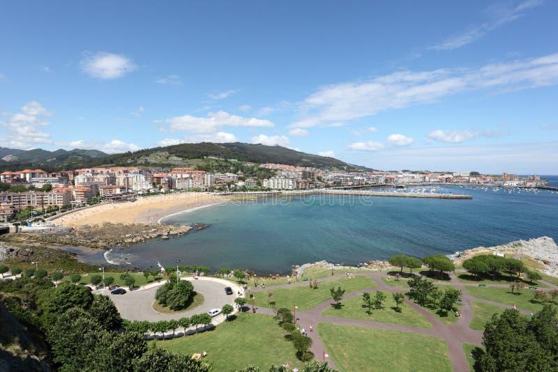 Vista sopra Castro Urdiales, Spagna fotografia stock libera da diritti
