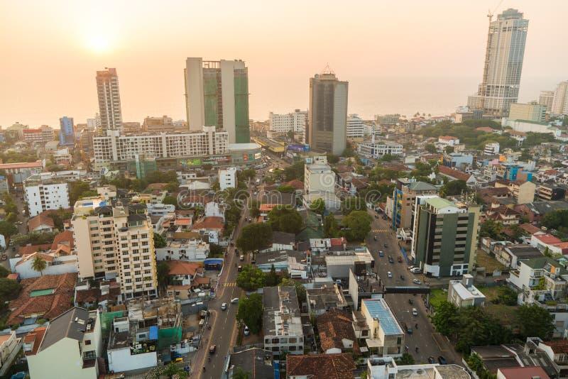 Vista sopra Colombo, Sri Lanka fotografia stock libera da diritti