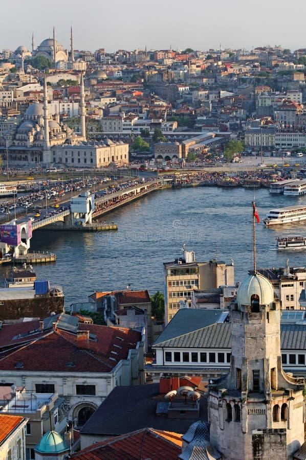 Vista sopra Costantinopoli fotografie stock