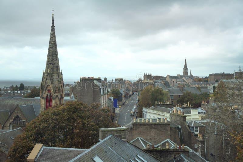 Vista sopra Dundee fotografie stock libere da diritti