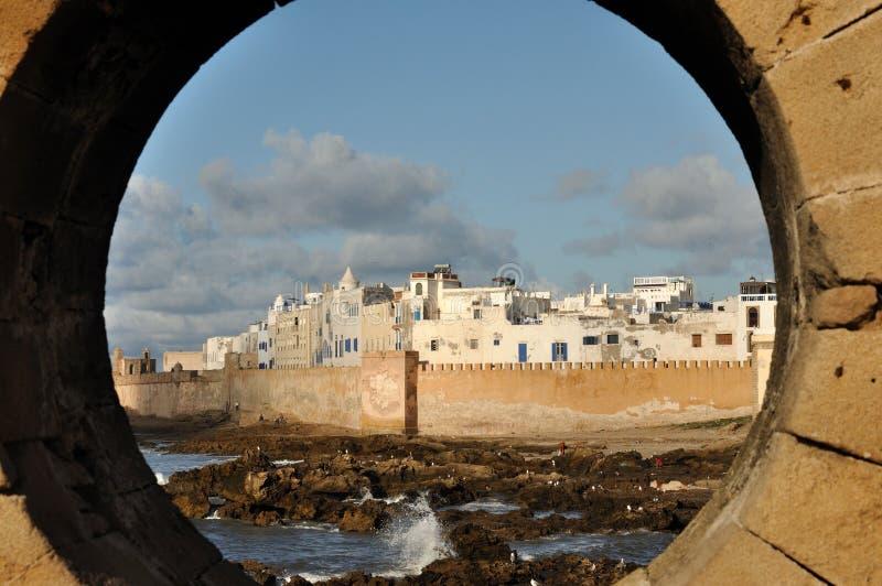 Vista sopra Essaouria, Marocco immagini stock
