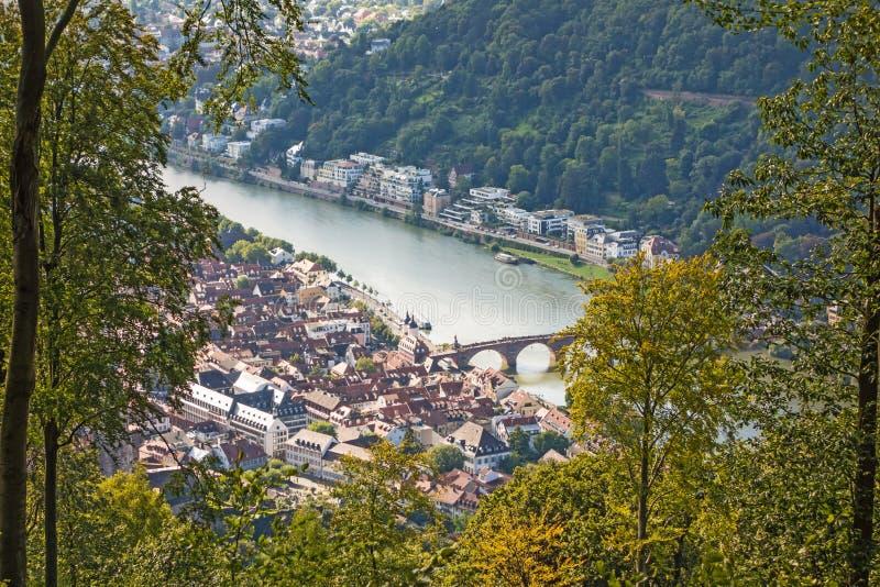 Vista sopra Heidelberg immagine stock libera da diritti