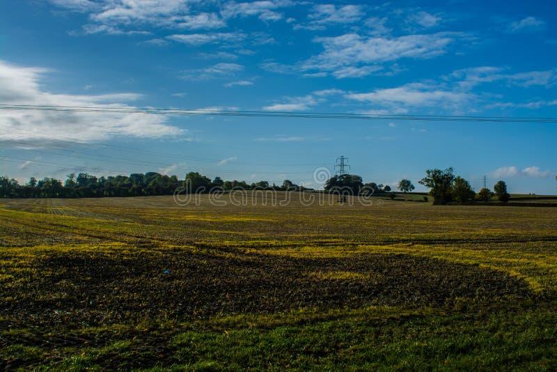 Vista sopra il campo di Buckinghamshire fotografia stock