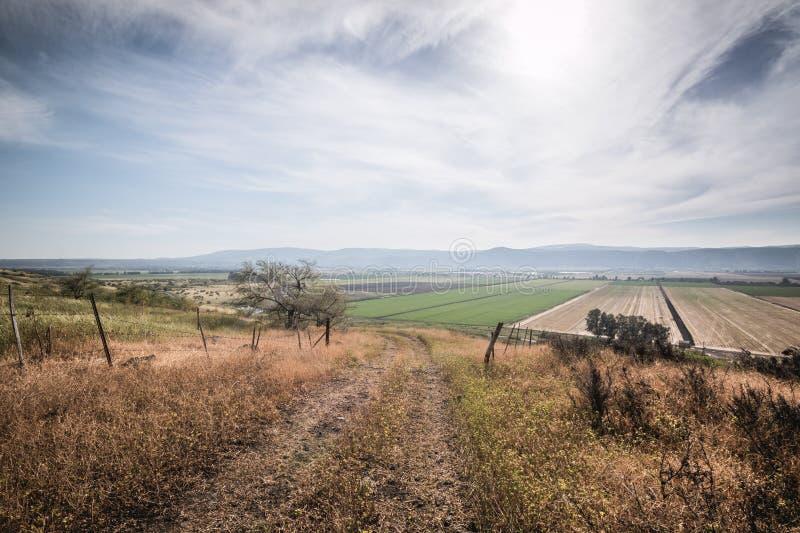 Vista sopra il paesaggio Israele di Golan Heights fotografia stock libera da diritti