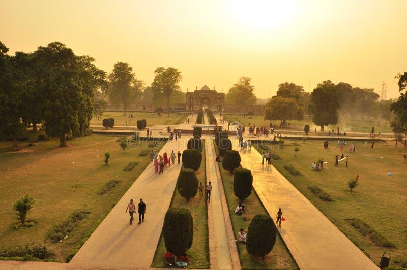 Vista sopra il sito di arte di Mughal, Lahore fotografie stock
