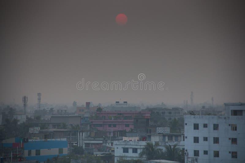 Vista sopra Khulna nel Bangladesh fotografia stock