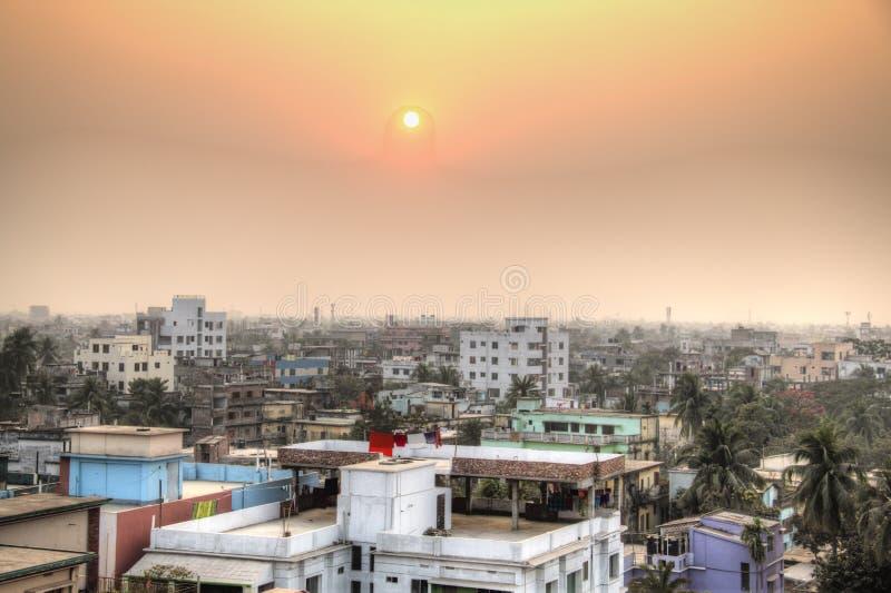 Vista sopra Khulna nel Bangladesh immagine stock