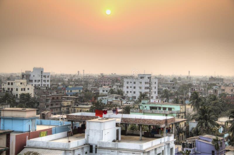 Vista sopra Khulna nel Bangladesh immagini stock libere da diritti