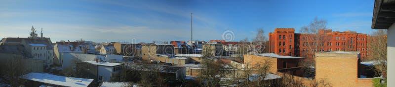 Vista sopra la parte del sud della città di Greifswald, Germania fotografia stock libera da diritti