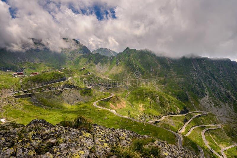 Vista sopra la strada di Transfagarasan fotografia stock libera da diritti