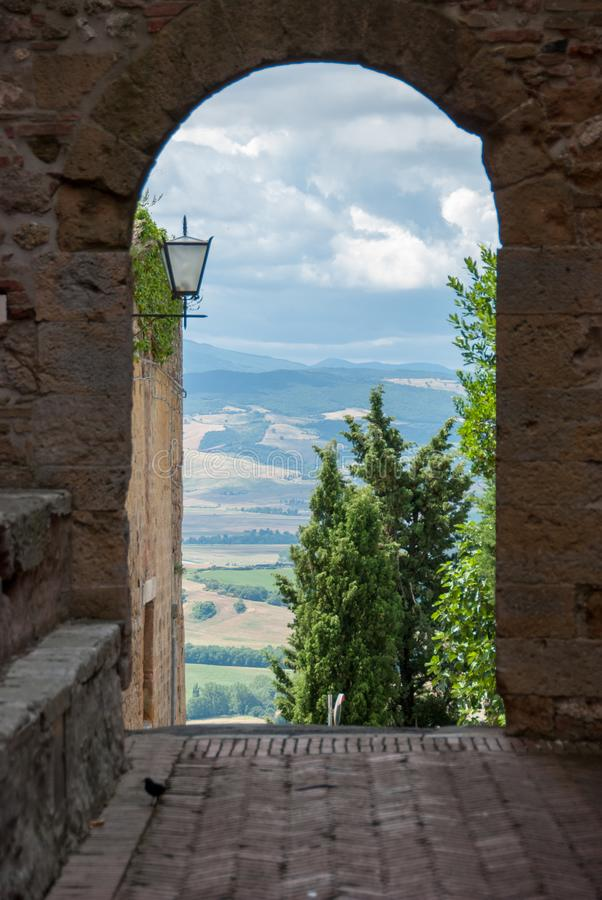 Vista sopra la Toscana fotografie stock