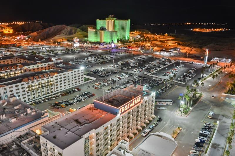 Vista sopra Laughlin, Nevada fotografia stock libera da diritti