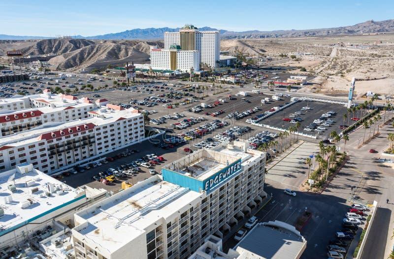 Vista sopra Laughlin, Nevada fotografie stock libere da diritti