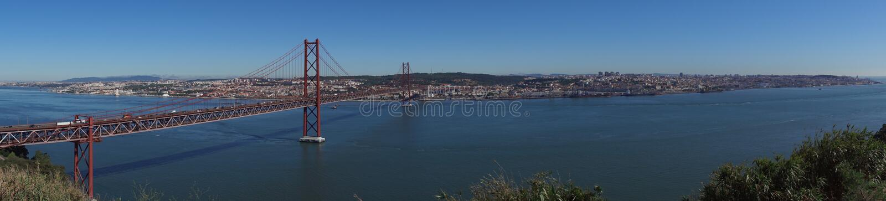Vista sopra Lisbona fotografia stock libera da diritti