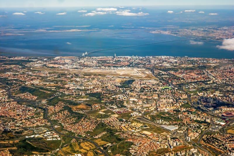 Vista sopra Lisbona fotografia stock