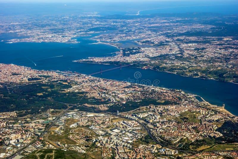 Vista sopra Lisbona immagine stock libera da diritti