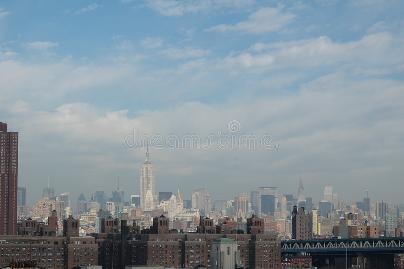 Vista sopra Manhattan del Nord fotografia stock libera da diritti