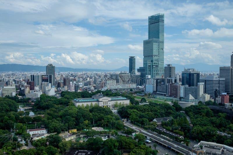 Vista sopra Osaka fotografie stock libere da diritti
