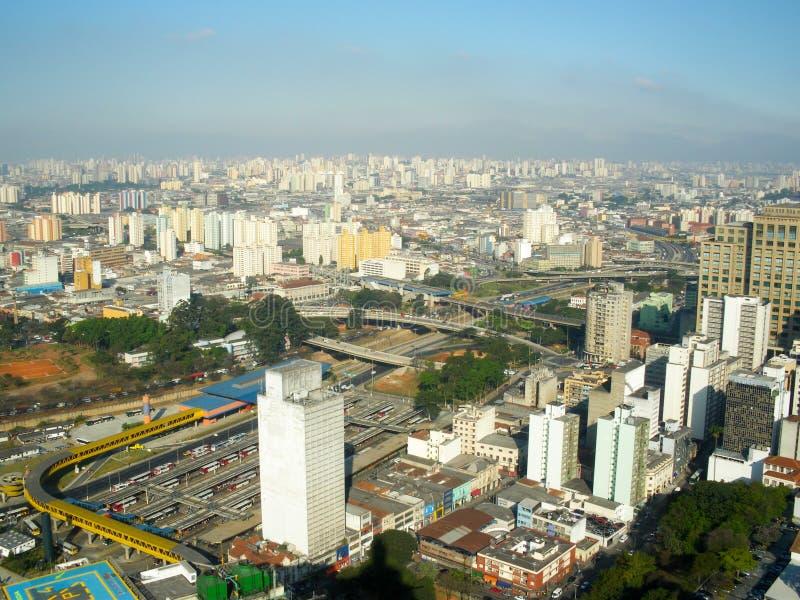 Vista sopra Sao Paulo da Banespa, Sao Paulo, Brasile immagine stock