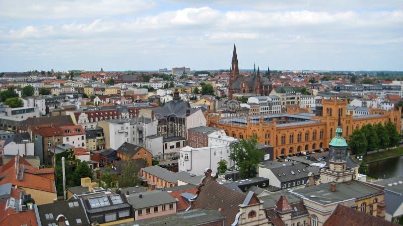 Vista sopra Schwerin fotografia stock