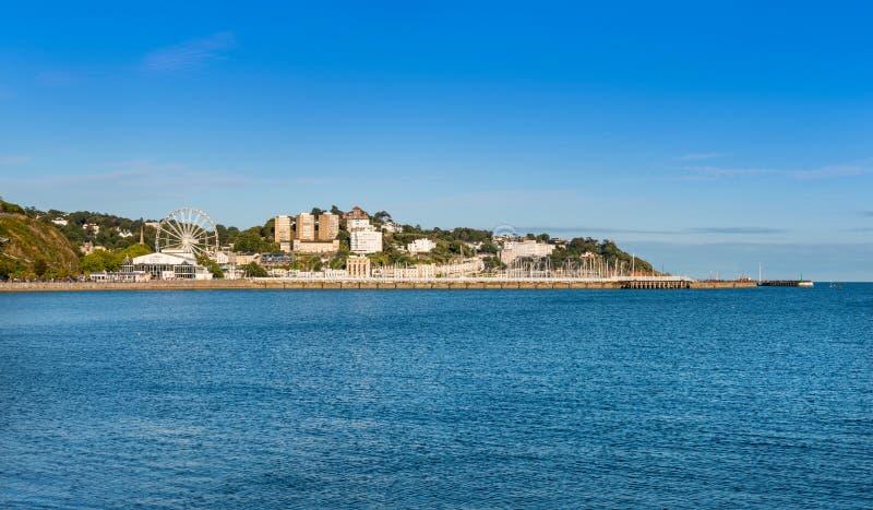 Vista sopra Torbay verso il porto di Torquay immagine stock libera da diritti