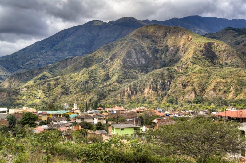 Vista sopra Vilcabamba fotografia stock libera da diritti