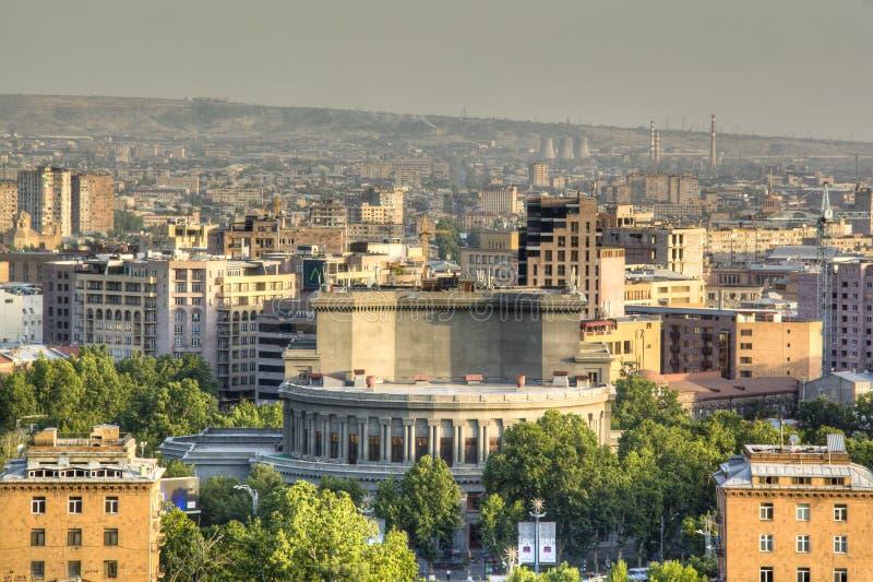 Vista sopra Yerevan fotografie stock libere da diritti