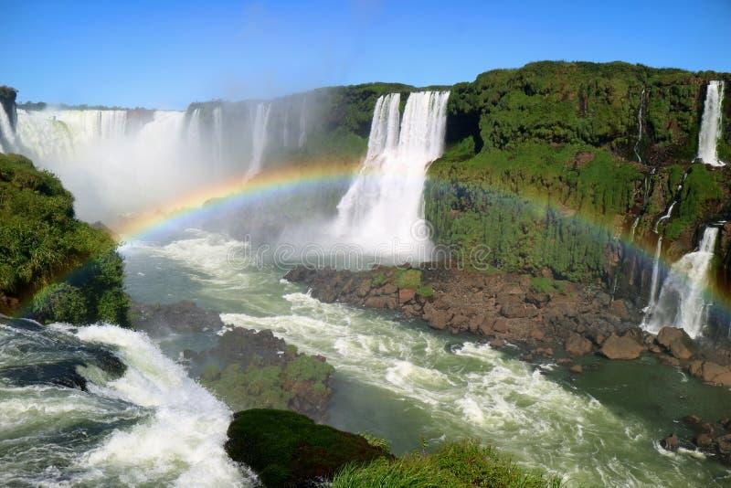 Vista strabiliante di area di gola del ` s del diavolo del sito del patrimonio mondiale dell'Unesco delle cascate di Iguazu dal l immagini stock