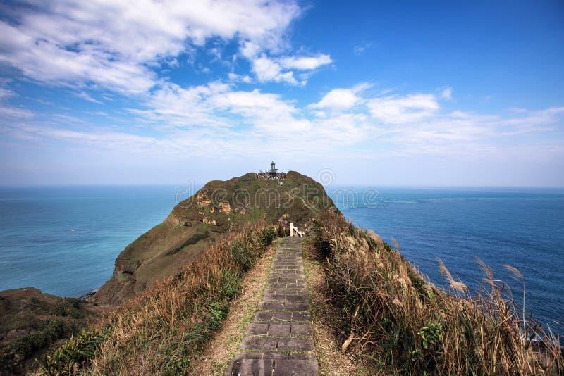 Vista strabiliante di una traccia di escursione in Taiwan immagini stock libere da diritti
